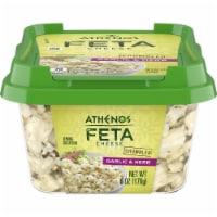 Athenos Crumbled Garlic & Herb Feta Cheese - 6 oz