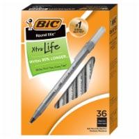 BIC Round Stic Pens - Black
