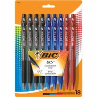 BIC BU3 Comfortable Grip Ball Point Medium Point Pens - Assorted