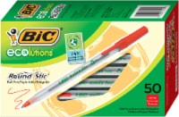 BIC Ecolutions Round Stic Ball Pens - Red