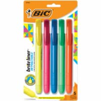 BIC Brite-Liner Retractable Assorted Highlighters - 5 Pack
