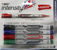 BIC Fine Point Dry Erase Magic Marker - Assorted - 4 Count