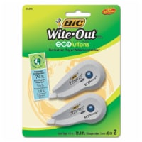 Bic Wite-Out Ecolutions Mini Correction Tape, White, 1/5  X 235 , 2/Pack WOETP21 - 1