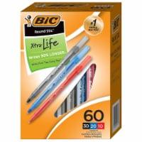 Bic Pen,Round Stic,Asst,60pk GSM609AST - 1