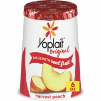 Yoplait Gluten Free Original Harvest Peach Low Fat Yogurt