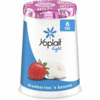 Yoplait Light Strawberries 'N Bananas Fat Free Yogurt