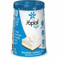 Yoplait Light Banana Cream Pie Fat Free Yogurt