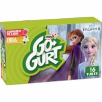 Go-Gurt Disney Frozen 2 Strawberry Ice Castle & Vanilla Flurries Low Fat Yogurt Tubes Value Pack