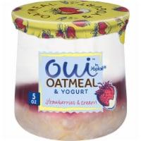 Oui By Yoplait Strawberries & Cream Oatmeal & Yogurt - 5 oz