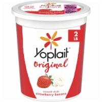 Yoplait Original Smooth Style Strawberry Banana Low Fat Yogurt