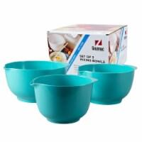 Hutzler Melamine Bowl Set 3 Pack - Turquiose