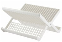Hutzler Folding Dish Rack - White