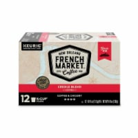 French Market Coffee and Chicory Medium-Dark Roast Coffee, Single-Serve K-Cup Pods, 12 Count - 12 Count