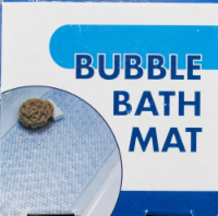 SlipX Solutions Bubble Bath Mat - Clear