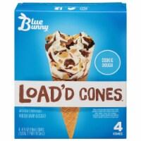 Blue Bunny Cookie Dough Load'd Ice Cream Cones