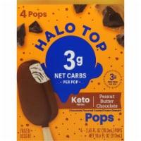 Halo Top Keto Peanut Butter Chocolate Ice Cream Pops - 4 ct / 2.65 fl oz