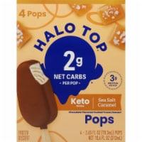 Halo Top Keto Sea Salt Caramel Ice Cream Pops - 4 ct / 2.65 fl oz