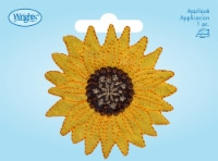 Wrights Iron-On Applique-Large Yellow Sunflower - 1