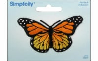 Simplicity Applique Iron-On Yellw & Orange Butterfly Patch - 1 ct