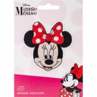 Wrights Disney Mickey Mouse Iron-On Applique-Minnie Mouse With Bow - 1