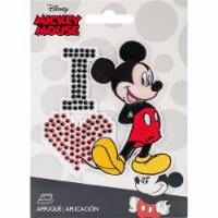 Wrights Disney Mickey Mouse Iron-On Applique-I Love Mickey - 1