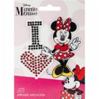 Wrights Disney Mickey Mouse Iron-On Applique-I Love Minnie - 1