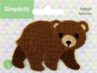 Wrights Baby Sew-On Applique-Bear - 1