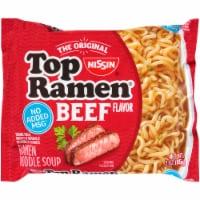 Top Ramen Beef Flavor Ramen Noodle Soup
