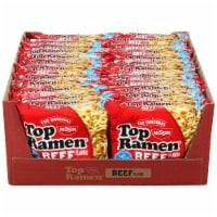 Nissin Top Ramen Beef Flavored Noodles - 24 ct / 3 oz