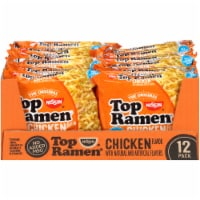 Top Ramen Chicken Flavor Ramen Noodle Soup 12 Count - 3 oz
