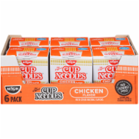 Nissin Cup Noodles with Chicken Flavor - 6 ct / 2.25 oz