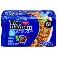 Top Ramen Soy Sauce Flavor Vegetarian Noodle Soup - 6 ct / 3 oz