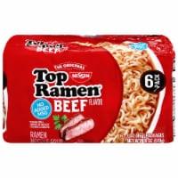 Top Ramen® Beef Flavor Ramen Noodle Soup - 6 ct / 3 oz