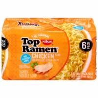 Top Ramen Chicken Flavor Ramen Noodle Soup - 6 ct / 3 oz