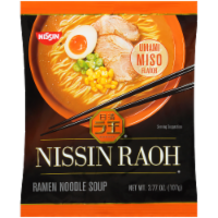 Nissin® Raoh Umami Miso Flavor Ramen Noodle Soup - 3.77 oz