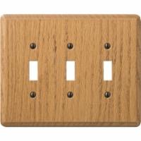 AmerTac Wallplate 3-Switch Light Switch Cover - Oakwood