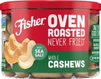 Fisher Over Roasted Whole Cashews with Sea Salt