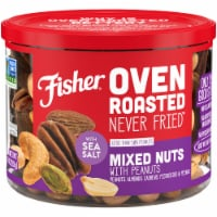 Fisher Oven Roasted Never Fried Mixed Nuts with Peanuts & Sea Salt