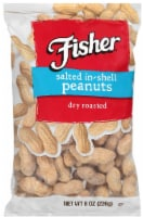 Fisher Salted In Shell Peanut, 8 Ounce -- 36 per case.