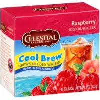 Celestial Seasonings Cool Brew Raspberry Iced Black Tea Bags 48 Count