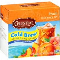 Celestial Seasonings Peach Cool Brew Iced Tea Bags 40 Count