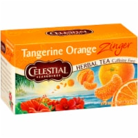Celestial Tangerine Orange Zinger Herbal Tea Bags 20 Count