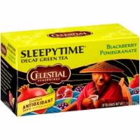 Celestial Seasonings Blackberry Pomegranate Sleepytime Decaf Green Tea Bags 20 Count