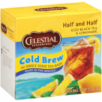 Celestial Seasonings Black Tea - Cool Brew Half and Half - Case of 6 - 40 BAG