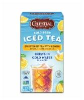 Celestial Seasonings® Sweetened with Lemon Cold Brew Iced Tea - 18 ct