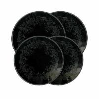 Range Kleen 5056 Burner Kovers Round Ivy Embossed Black