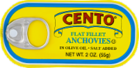 Cento Flat Fillet Anchovies in Olive Oil - 2 oz