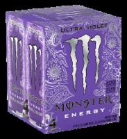Monster Ultra Violet Energy Drink - 4 cans / 16 fl oz