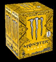 Monster Ultra Gold Energy Drinks - 4 cans / 16 fl oz
