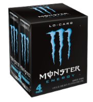 Monster Lo-Carb Energy Drink - 4 cans / 16 fl oz
